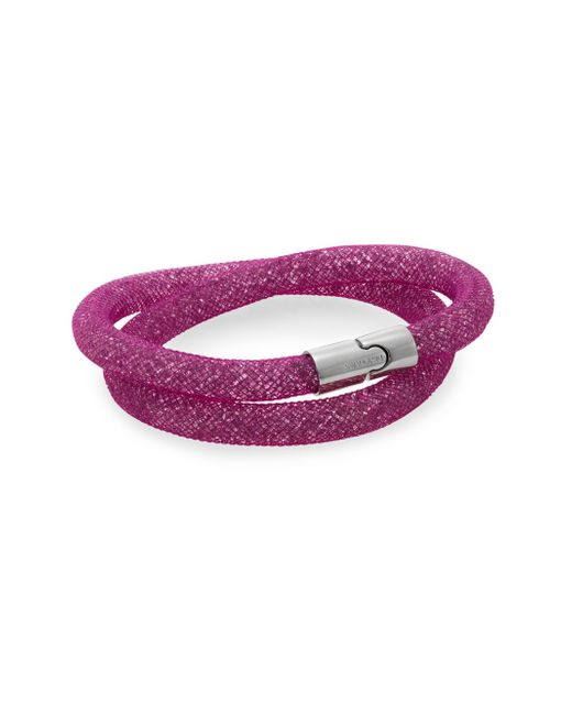Swarovski | Purple Palladium-plated Double Wrap Bracelet | Lyst