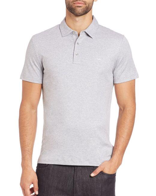 Michael Kors   Gray Logo Cotton Polo for Men   Lyst