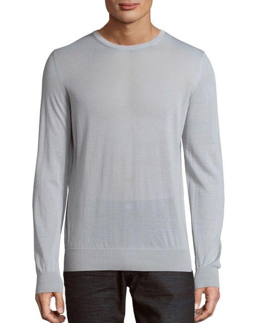 Giorgio Armani   Gray Crewneck Cashmere Sweater for Men   Lyst