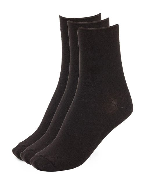 Hue | Black Cotton Blend Socks- 3 Pairs for Men | Lyst