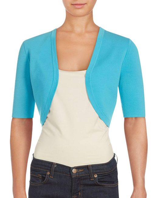 Michael Kors | Blue Merino Shrug | Lyst