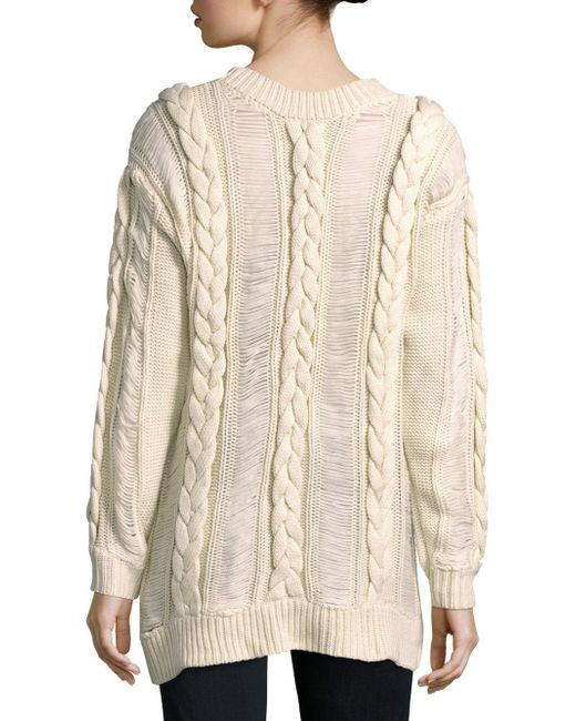 Somedays lovin Braided Cable Knit Sweater in Natural