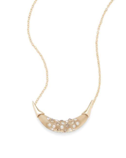 Alexis Bittar | Metallic Lucite Swarovski Crystal & 10k Gold-plated Pendant Necklace | Lyst