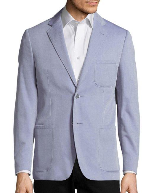 Corneliani | Blue Long Sleeve Cotton Jacket for Men | Lyst