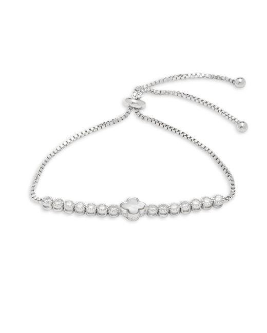 Saks Fifth Avenue | Multicolor Cubic Zirconia Clover Pull Bracelet | Lyst