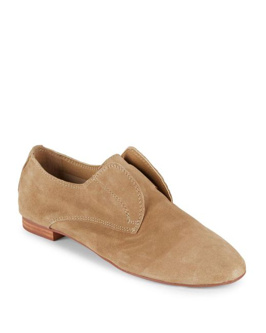 Saks Fifth Avenue   Natural Leather Laceless Oxfords for Men   Lyst