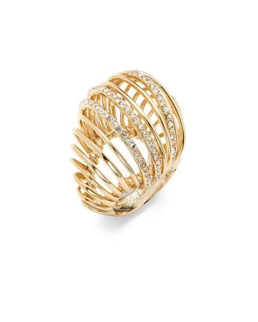 Alexis Bittar | Metallic Crystal Cutout Ring | Lyst