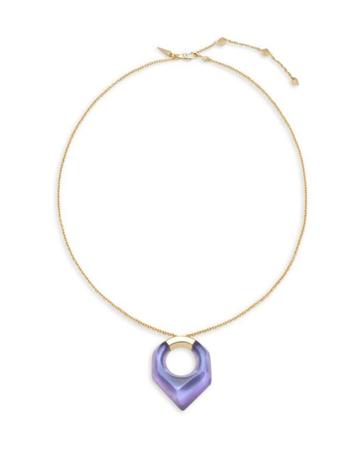 Alexis Bittar | Metallic Lucite 10k Gold-plated Pendant Necklace | Lyst