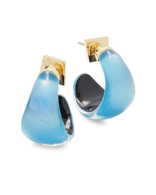 Alexis Bittar   Blue Lucite & 10k Gold-plated Huggie Earrings   Lyst
