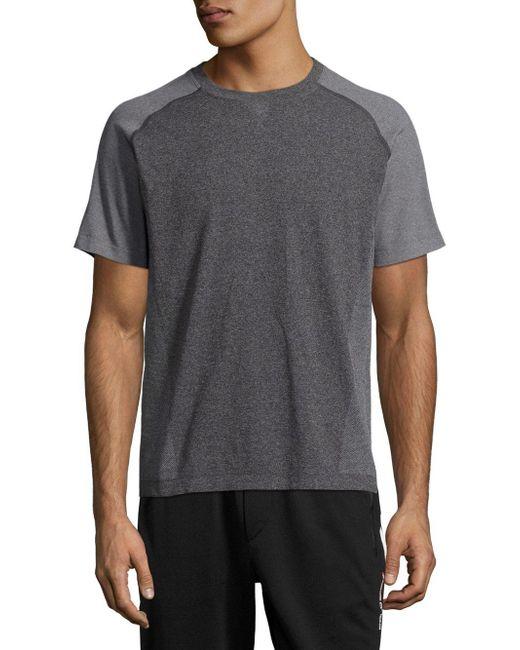 Saks Fifth Avenue   Black Crewneck Raglan-sleeve T-shirt for Men   Lyst