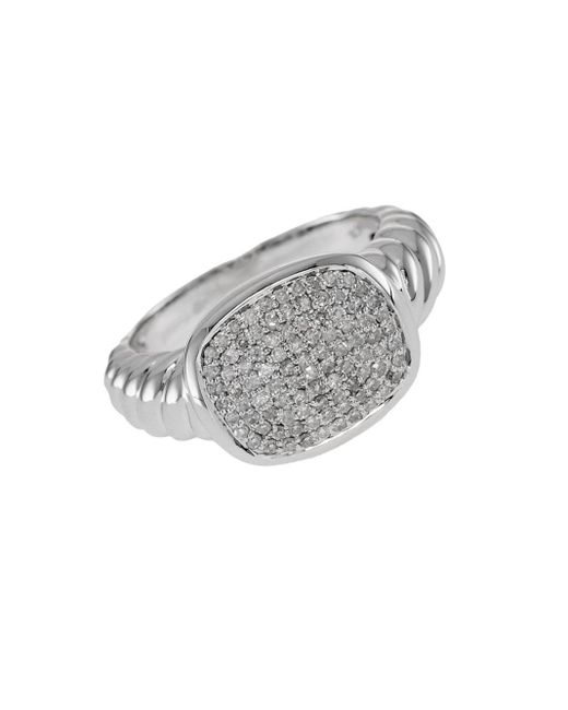 Effy | Metallic Balissima Pave Diamond And Sterling Silver Ring | Lyst