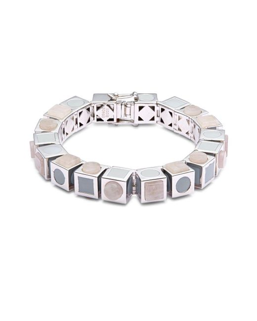 Eddie Borgo | Metallic Mosaic Cube Bracelet | Lyst
