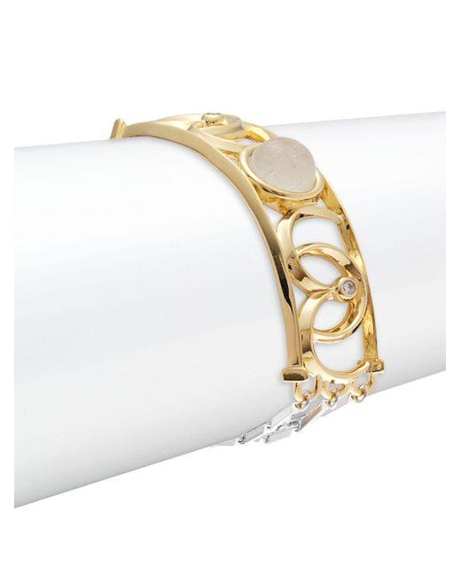 Eddie Borgo | Metallic Sibyl 12k Gold-plated Bracelet | Lyst