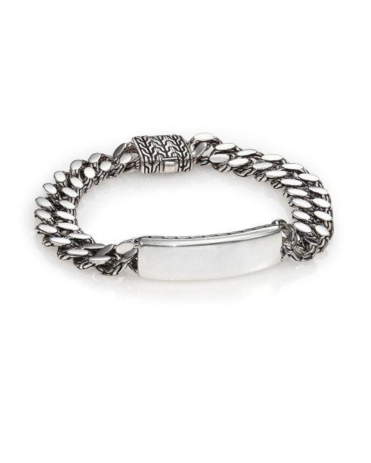 John Hardy   Metallic Classic Chain Gourmette Silver Link Id Bracelet   Lyst