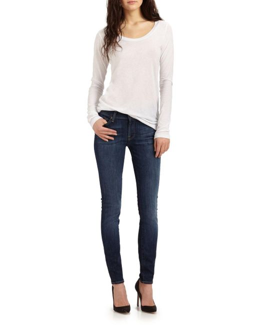 7 For All Mankind | Blue The Skinny Nouveau New York Jeans | Lyst