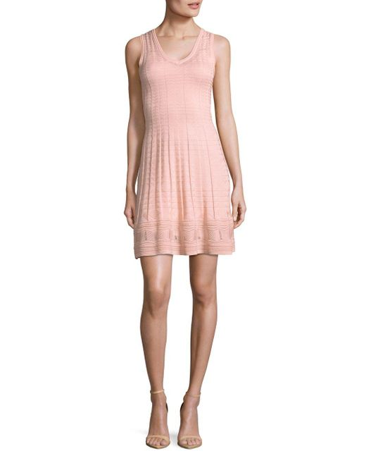 M Missoni | Pink Light Weight Spring Dress | Lyst