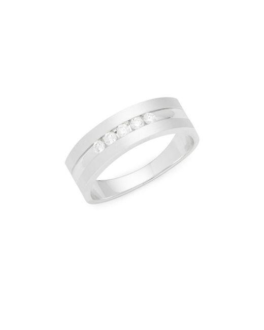 Effy   Metallic Diamond & 14k White Gold Ring   Lyst