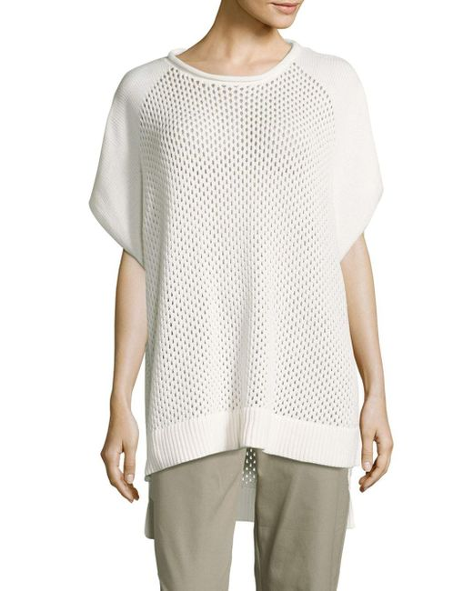 French Connection   White Fishermens Solid Ribbed-hem Top   Lyst