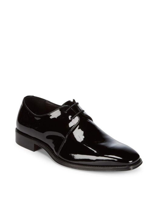 Saks Fifth Avenue | Black Leather Oxfords for Men | Lyst