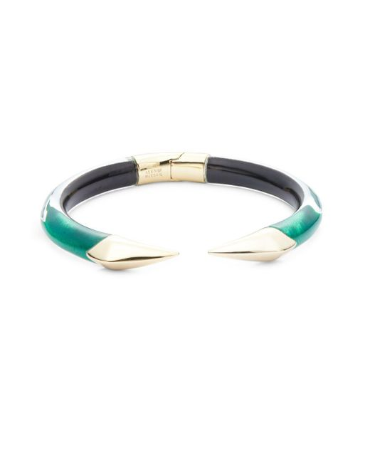 Alexis Bittar | Multicolor Lucite & 10k Yellow Gold Hinged Bracelet | Lyst