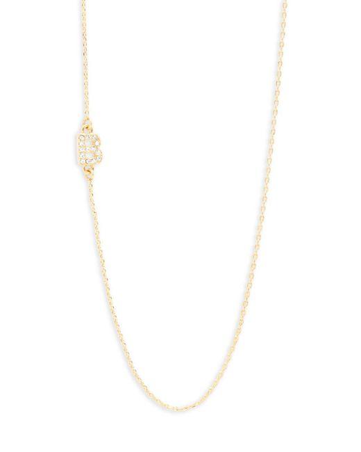 BaubleBar | Metallic Diamanda Alpha 14k Goldplated B-necklace | Lyst