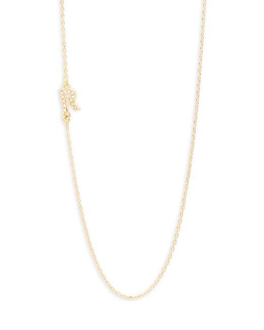 BaubleBar | Metallic Diamanda Alpha 14k Goldplated R-necklace | Lyst