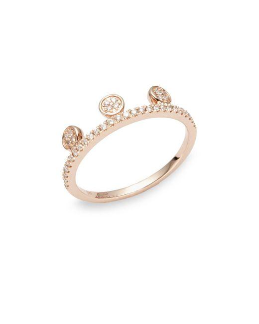 Ron Hami   Metallic Dot Diamond & 14k Rose Gold Tiara Ring   Lyst