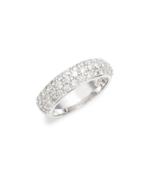 Saks Fifth Avenue   Metallic Silver Studded Band Ring   Lyst