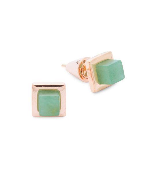 Eddie Borgo   Multicolor Rose Gold Pin Earrings   Lyst