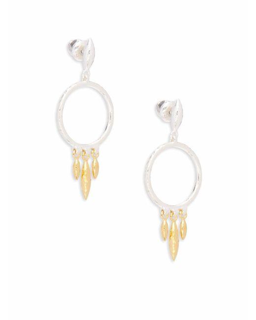 Gurhan | Metallic 24k Yellow Gold-plated Drop Earrings | Lyst