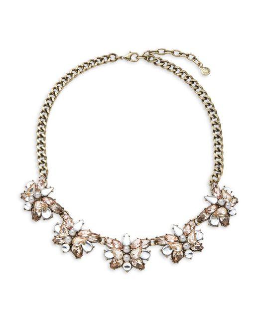BaubleBar   Pink Floral Cluster Necklace   Lyst
