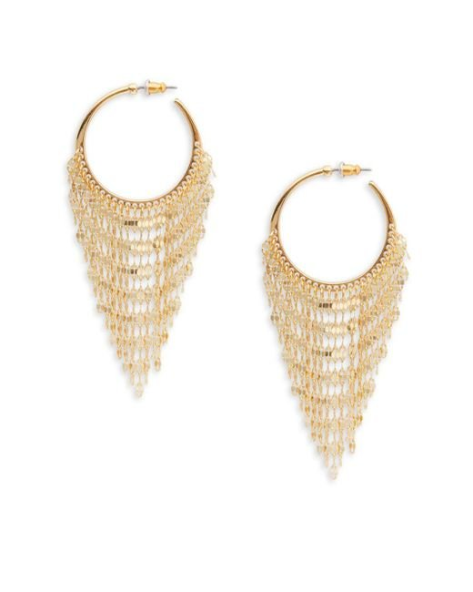 Panacea | Metallic Fringe Drop Earrings | Lyst
