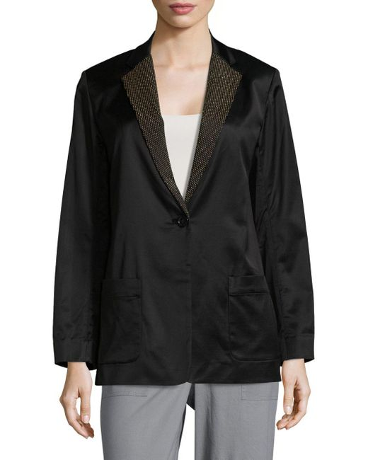 Marc By Marc Jacobs | Black Washed Satin Jacket | Lyst