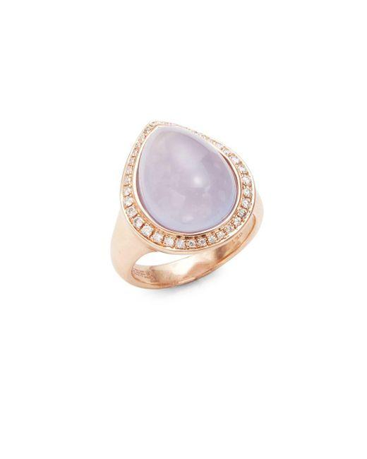 Effy | Metallic Diamond Quartz & 14k Rose Gold Ring | Lyst