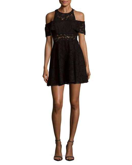 Jay Godfrey | Black Cold Shoulder Lace Dress | Lyst