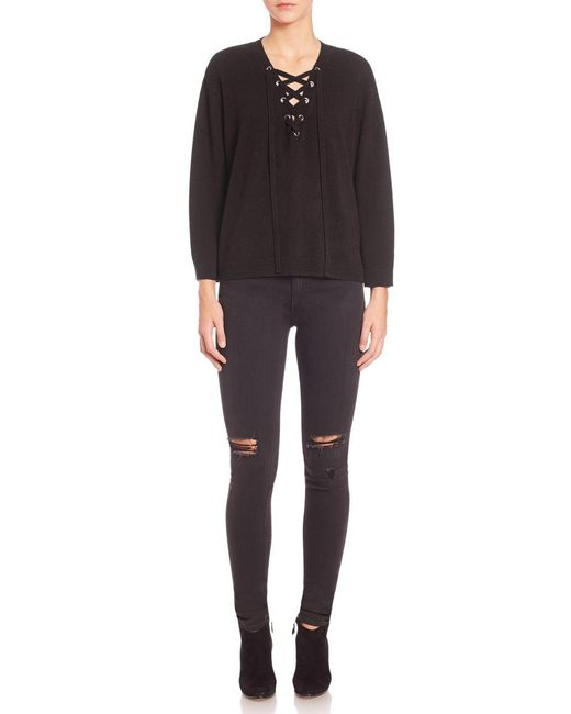The Kooples | Black Solid Wool Sweater | Lyst