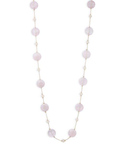 Saks Fifth Avenue | Metallic Long Beaded Necklace | Lyst