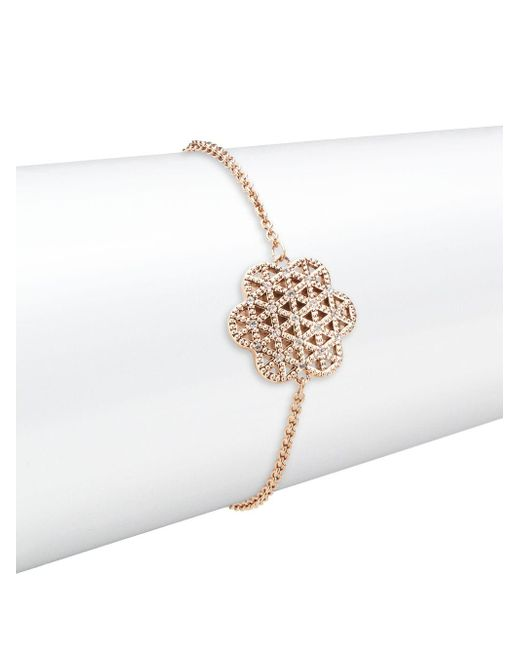 Swarovski | Metallic Crystal Flower Of Love Bracelet | Lyst