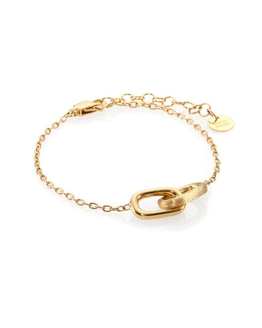 Marco Bicego | Metallic Delicati 18k Yellow Gold Interlocking Link Bracelet | Lyst