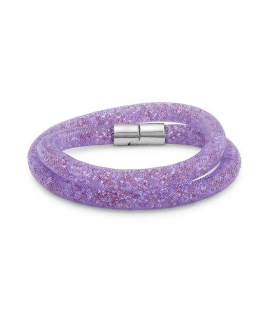 Swarovski | Purple Crystals Wrap Bracelet | Lyst