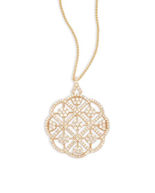 Effy | Metallic Diamond & 14k Yellow Gold Solid Fill Chain Necklace | Lyst