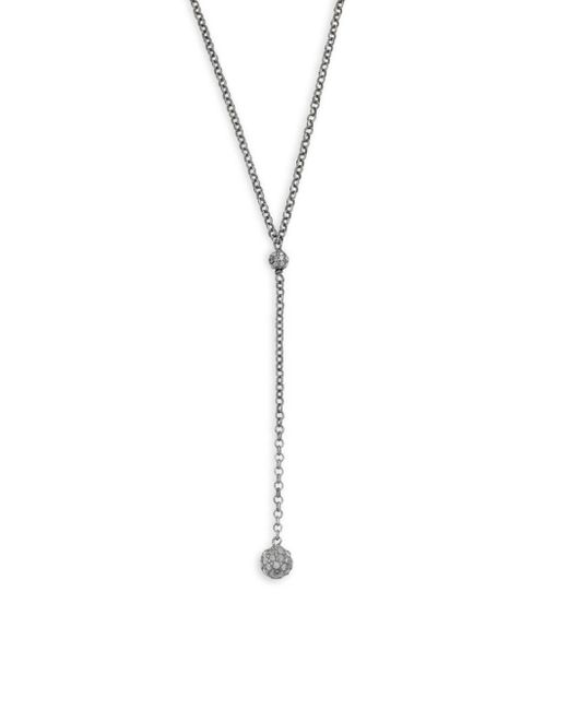 Bavna | Metallic Champagne Diamond & Sterling Silver Y-pave Necklace | Lyst