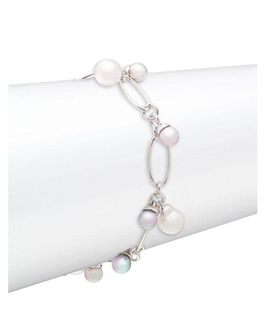 Majorica | Metallic 6/8mm Organic Pearl & Sterling Silver Chain Bracelet | Lyst
