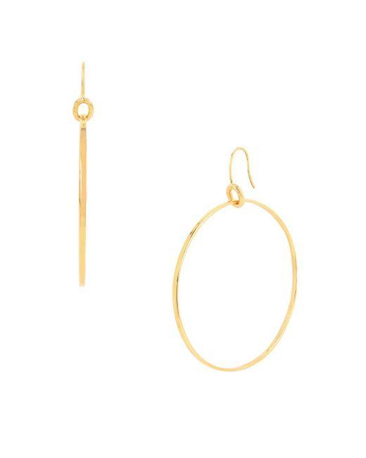 Diane von Furstenberg   Metallic Sandy Links Sandblast Ring Hoop Earrings   Lyst