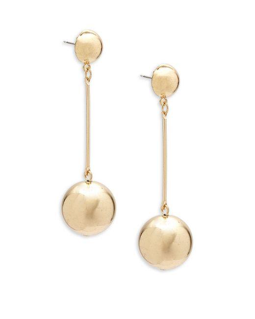 Shashi | Metallic Ball Drop Earrings | Lyst