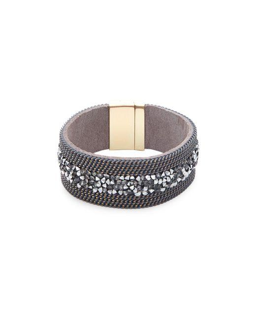 Saks Fifth Avenue | Metallic Crystal Band Bracelet | Lyst