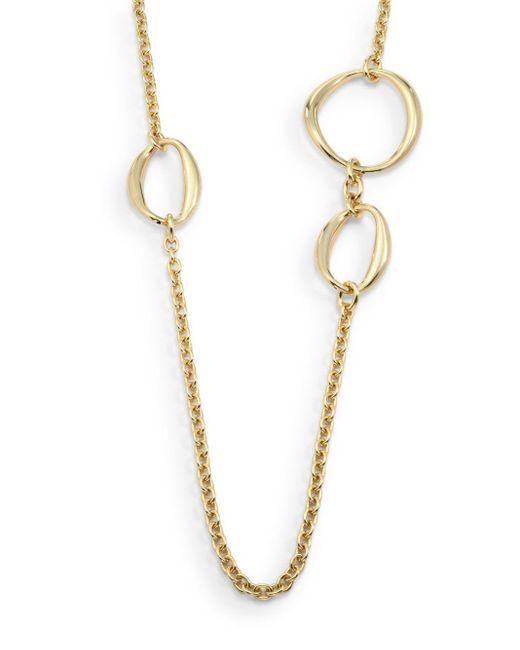 1ar   Metallic Asymmetrical Open Circle Station Necklace   Lyst