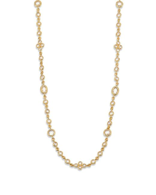 Adriana Orsini | Metallic Faceted Double-wrap Necklace | Lyst