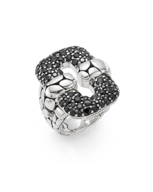 John Hardy | Metallic Kali Black Sapphire & Sterling Silver Ring | Lyst