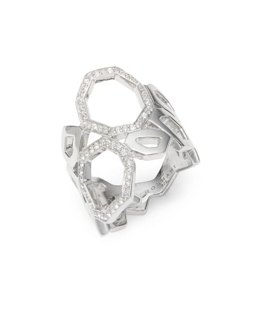 Ron Hami | Metallic Geo White Topaz & Sterling Silver Ring | Lyst